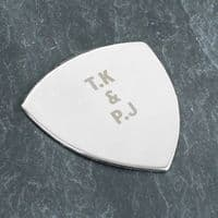 Personalised Silver Plectrum - ideal gift for musician / guitar player - Birthday, Father's Day, Christmas